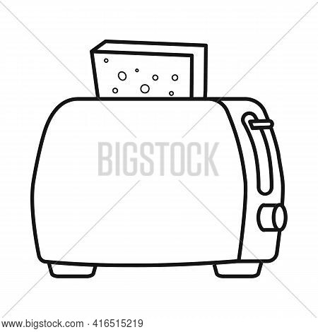 Isolated Object Of Toaster And Toast Icon. Web Element Of Toaster And Bread Stock Symbol For Web.