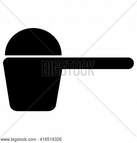 Scoop Icon On White Background. Flat Style. Detergent Scoop Sign. Washing Powder Symbol.