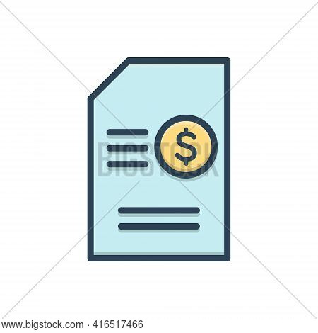 Color Illustration Icon For Contents-monetization Contents Monetization Matter