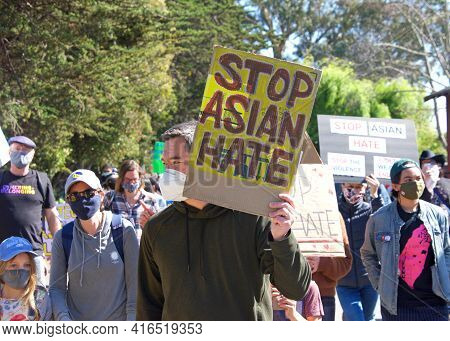 Berkeley, Ca - Mar 28, 2021: Unidentified Participants At Asian American Pacific Islander Youth Risi