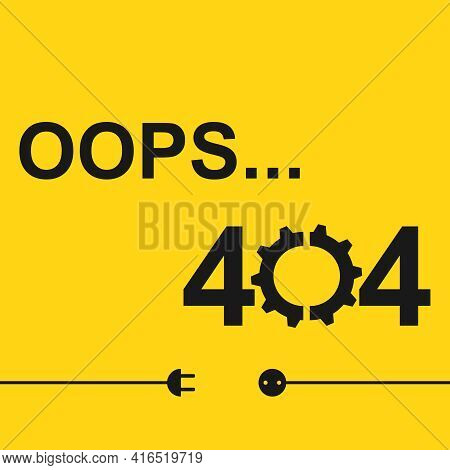 Error 404, Error Opening Web Page. This Page Does Not Exist. Vector Illustration. Vector.