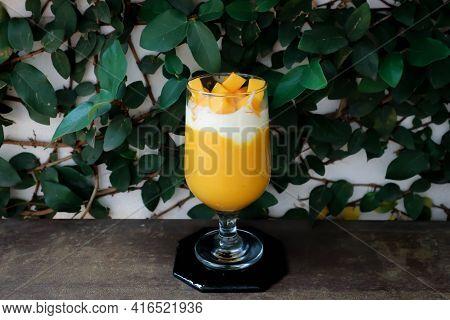 Mango Smoothie Or Mango Yogurt Smoothie With Mango For Serve