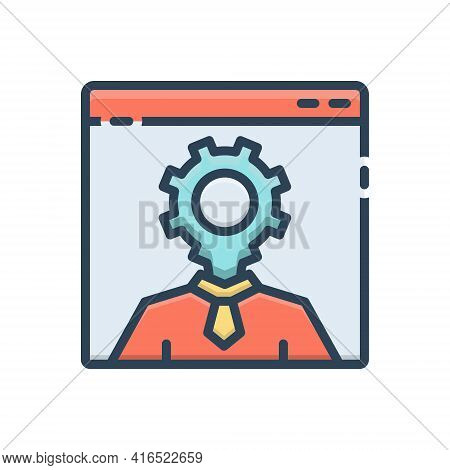 Color Illustration Icon For Seo-specialist Connoisseur Expert Seo Specialist