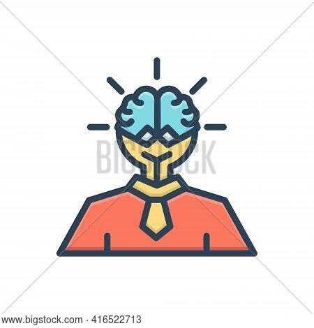 Color Illustration Icon For Smart-ideas Advice Astute Counsel Ideas Opinion Smart