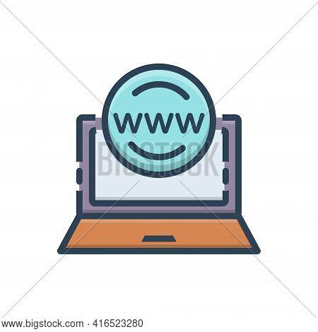 Color Illustration Icon For Online-presence-management Application Browser Management Online Presenc