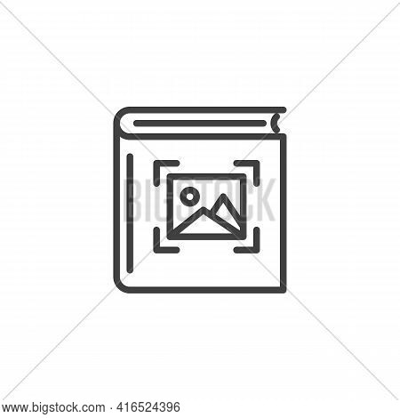 Photo Album Line Icon. Linear Style Sign For Mobile Concept And Web Design. Picture Album Outline Ve