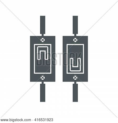 Automatic Electric Fuse Icon In Flat Style.vector Illustration.