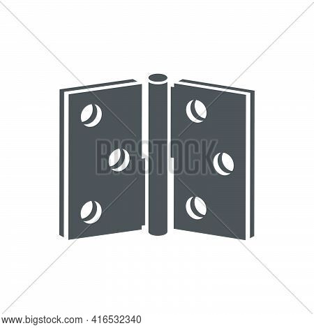 Door Hinges Icon In A Flat Style.vector Illustration.