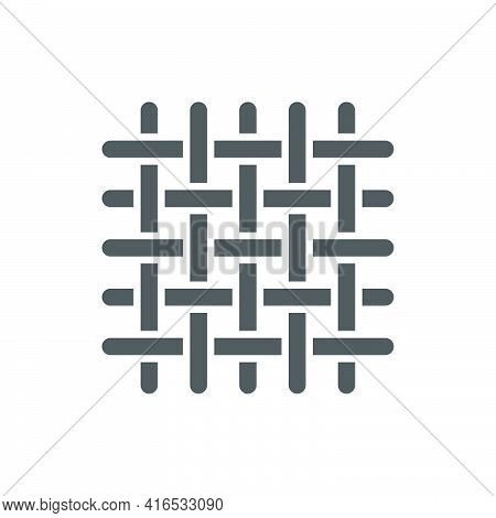 Metal Grid With Rivets Icon In Flat Style.vector Illustration.
