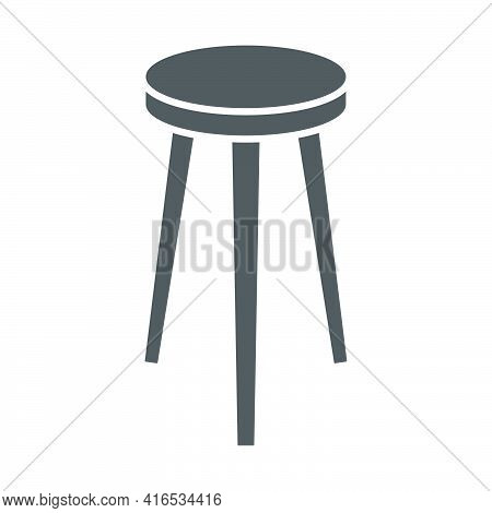 Bar Stool Icon In Flat Style.vector Illustration.