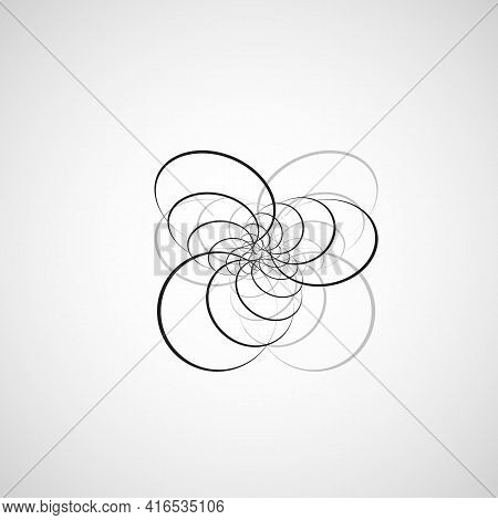 Vector Swirl Design Backdrop. Beautiful Fluid Surface With Rounded Lines
