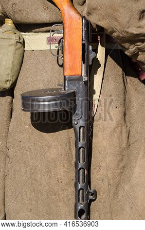 Machine Gun - Armament Of A Soldier Of The 1st Army Of The Polish Army