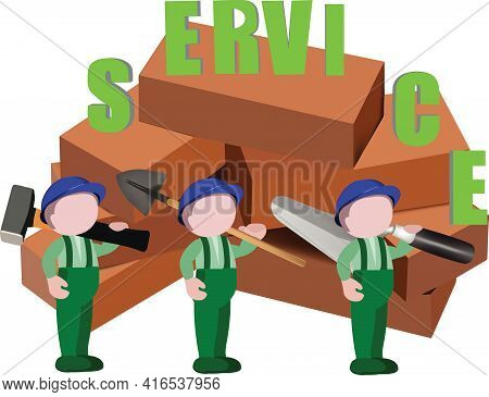 Terracotta Bricks For Construction Terracotta Bricks People With Service Tools