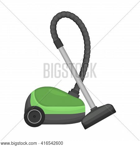 Vacuum Cleaner Vector Cartoon Icon. Vector Illustration Electric Vacuum On White Background. Isolate