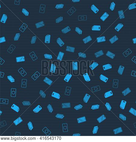 Set Glass Screen Protector, , Mobile With Broken And Shield On Seamless Pattern. Vector