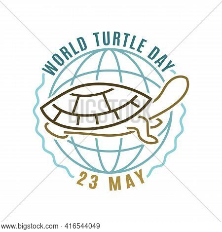 World Turtle Day In May. International Event.