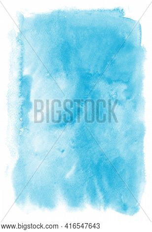 Watercolor Background For Textures. Abstract Watercolor Background. Ink Stains On Paper. The Color O