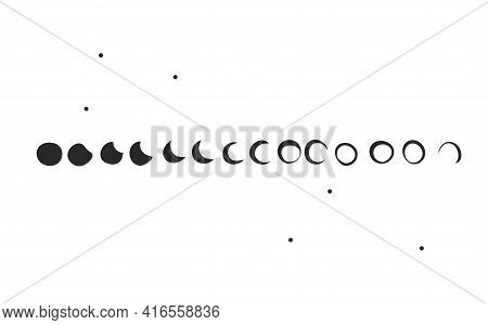 Hand Drawn Vector Abstract Stock Flat Graphic Illustration Collection Set With Logo Elements Of Magi