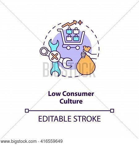 Low Consumer Culture Concept Icon. E-waste Management Challenge Idea Thin Line Illustration. Obsessi