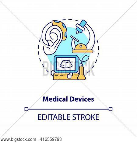 Medical Devices Concept Icon. E-waste Category Idea Thin Line Illustration. Unused Medicine Equipmen