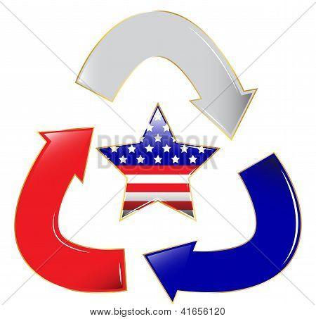 Recycle Patriotic Star