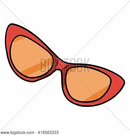 Sunglasses. Goggles That Protect The Eyes From Ultraviolet Rays. Things You Need On The Beach. Carto