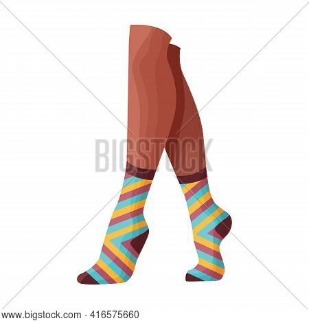 Woman Sock Vector Icon.cartoon Vector Icon Isolated On White Background Woman Sock.
