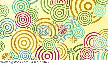 Colorful grunge circles abstract background