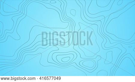 Blue outline topographic contour map abstract tech background