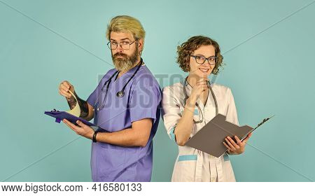 Doctors Colleagues. Doctors Meeting. Regular Day Hospital. Advice Of Experienced Colleague. Medical