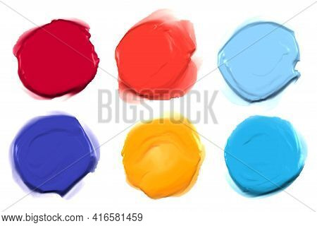Set Of Six Acrylic Thick Watercolor Stains