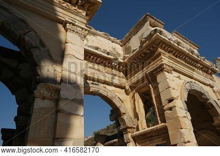 Temple Of Hadrian, Ephesus, Turkey. Archaeological Background.