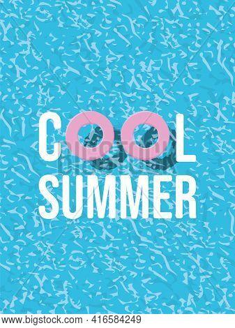 Summer Poster Or Card Vector Background. Minimal Illustration. Symbol Of Vacation, Summer Holiday, T