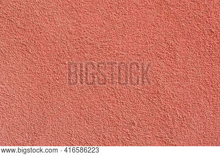 Stucco Texture Ocher Color On The Exterior Walls Of The Houses