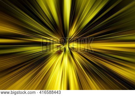 Abstract Surface Of Radial Blur Zoom Gold, Brown, Black Tones. Abstract Gold, Brown  Background With