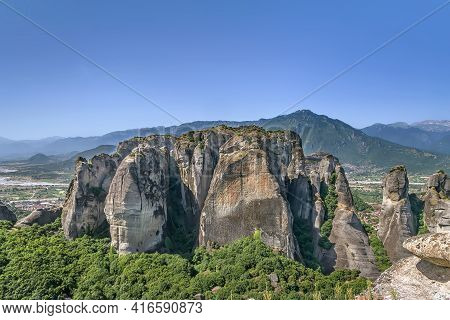 Landscape With Rocks In Meteora In Greece