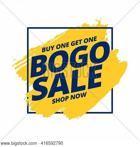 Buy One Get One Free Bogo Sale Background