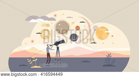 Discovery And Universe Exploration With Star Observation Tiny Person Concept