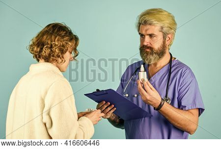 Medical Help. Medical History. Doctor Communicate Woman. Medical Treatment. Offering Effective Cures
