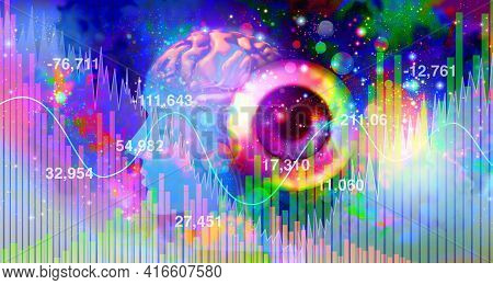 Psychedelics Investment And Psychedelic Drug Investing Or Hallucinogenic Drugs Industry Or Hallucino
