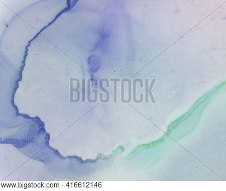 Ethereal Art Pattern. Liquid Ink Wave Background. Lilac Modern Spots Canvas. Sophisticated Color Mar