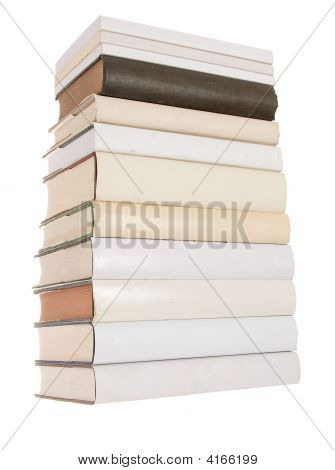 Pile Of White Books With One Black Book