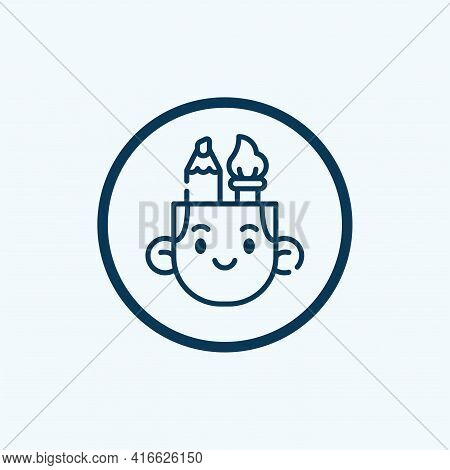 Design Thinking Icon Isolated On White Background From Digital Transformation Collection. Design Thi