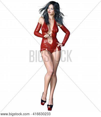 Beautiful Woman In Short Body.