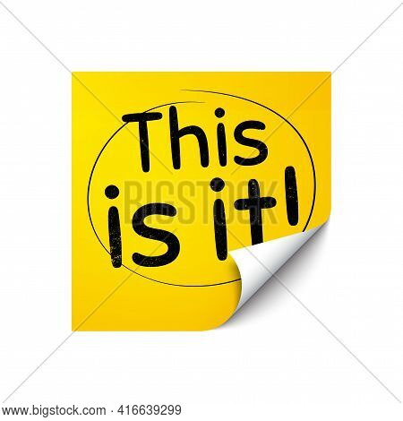 This Is It Symbol. Sticker Note With Offer Message. Special Offer Sign. Super Offer. Yellow Sticker