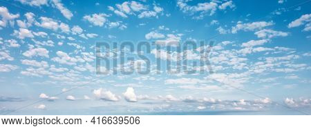 Cloudy Sunny  Blue Sky Summer Abstract Background