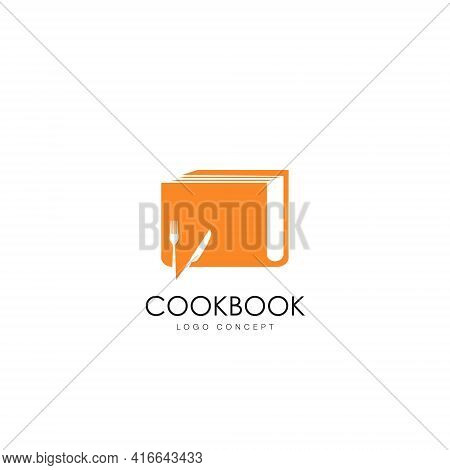 Cookbook Vector Logo Design With The Concept Of Communicating And Sharing Information About Restaura