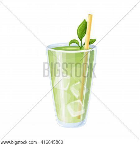 Iced Matcha Or Matcha Green Tea Latte