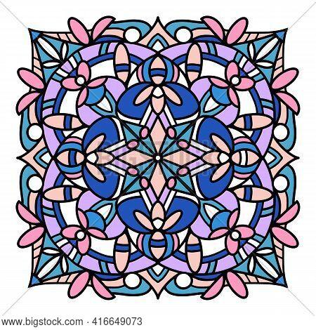 Meditation Mandala Icon. Hand Drawn And Outline Illustration Of Meditation Mandala Vector Icon For W