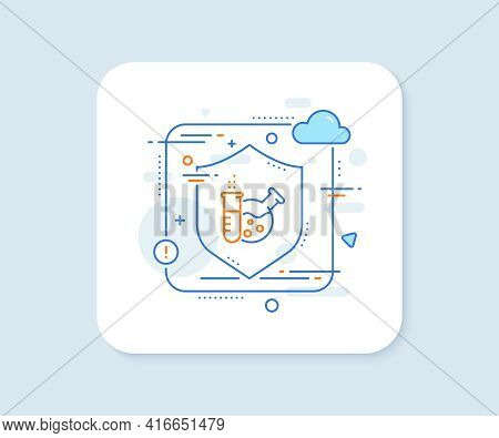 Chemistry Lab Line Icon. Abstract Vector Button. Laboratory Flask Sign. Analysis Symbol. Chemistry L